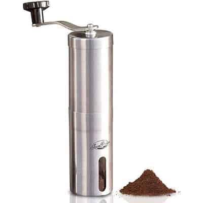 JavaPresse Manual Stainless Steel Coffee Grinder